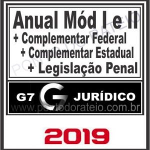 ANUAL COMPLETO (MÓDULO I E II + LPE + COMPLEMENTARES) G7 2019