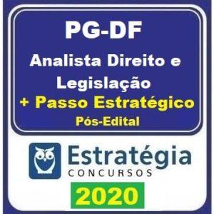 PG DF (ANALISTA DIREITO E LEGISLAÇÃO + PASSO) PÓS EDITAL